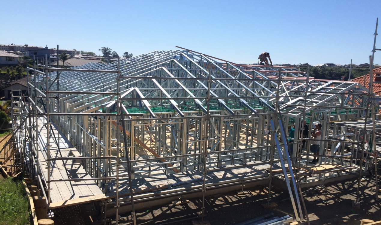Steel Frame House Construction : Cambridge homes steel frame house construction nz framing